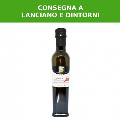 Condimento a base di olio extra vergine di oliva e peperoncino