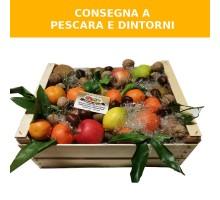 Cassetta regalo natalizia frutta
