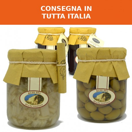 Cardone, olive intosso e scrucchiata abruzzese