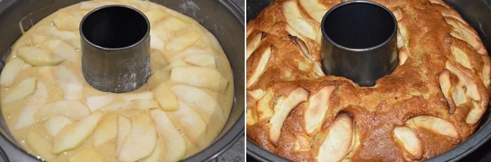 Il dolce con le mele pronto per la colazione