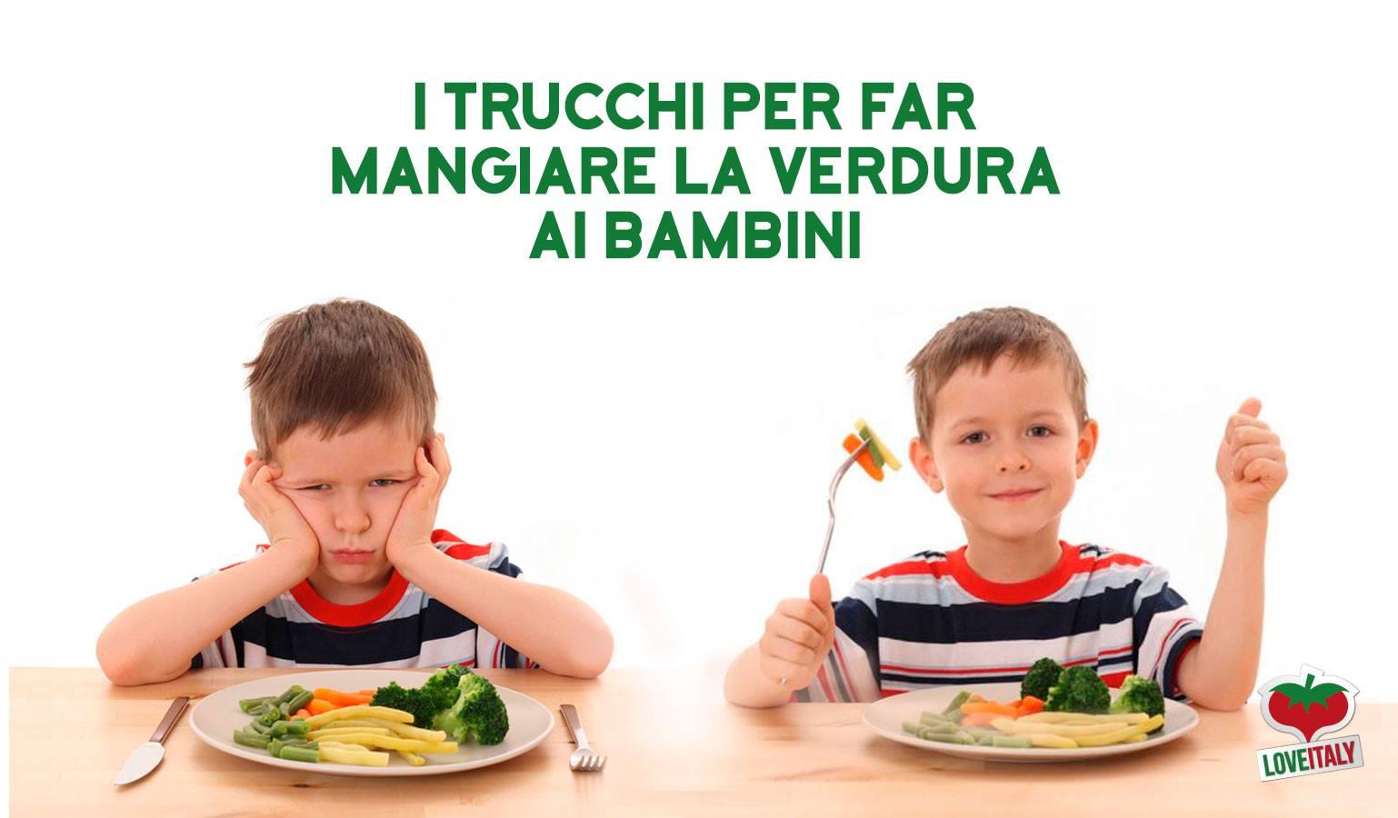 Come far mangiare le verdure ai bambini: trucchi
