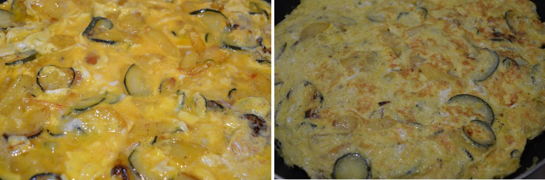 Frittata di stagione: preparazione con le zucchine e le patate