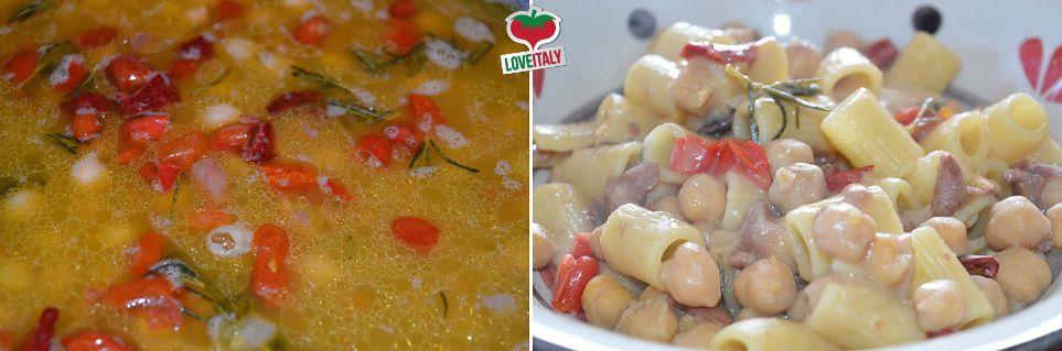 Pasta con legumi e rosmarino