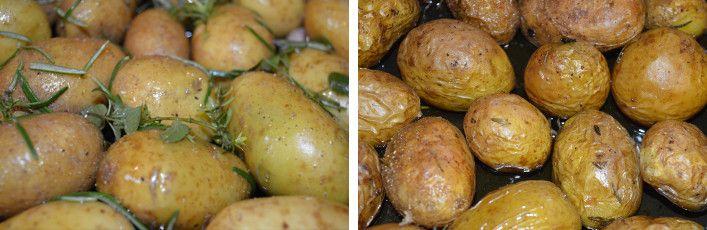 Le patate novelle al forno con buccia