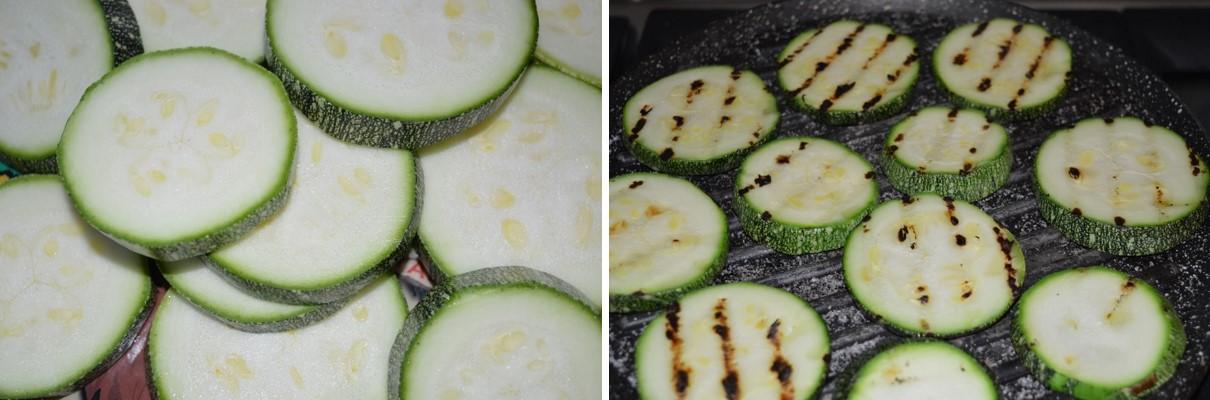 Ricetta per i medaglioni di zucchine: primo passo