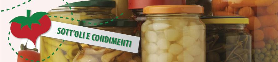 Sottoli e condimenti per antipasti e contorni