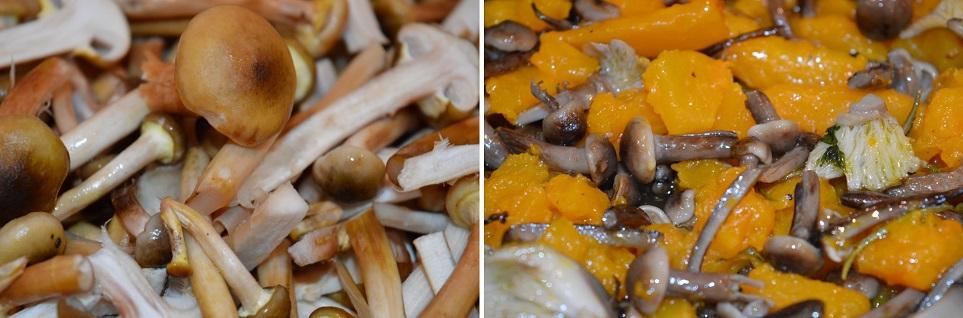 La ricetta per le tagliatelle con zucca e funghi
