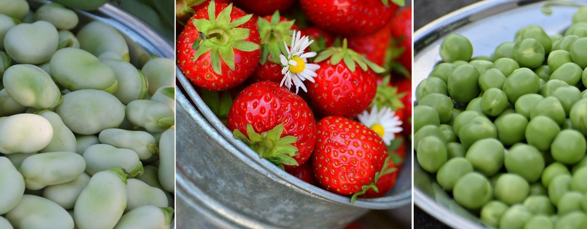 Frutta e verdura di Aprile